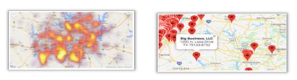 business bankruptcies heatmap